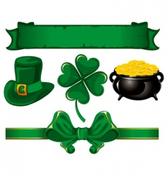 set to St Patrick's day vector image vector image