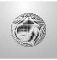 A halftone sphere vector