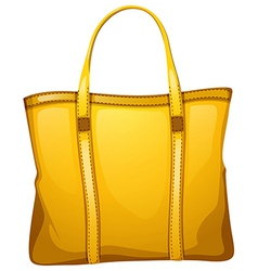 A yellow leather bag vector image