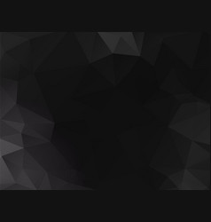 abstract black polygonal background vector image