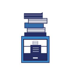 Academics books icon vector