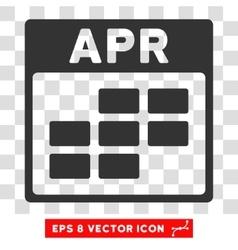 April Calendar Grid Eps Icon vector