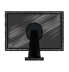 back of monitor icon vector image