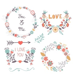 Beautiful romantic collection vector image