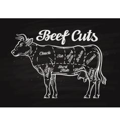 Beef cuts template menu design for restaurant vector