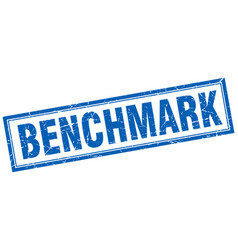 Benchmark square stamp vector