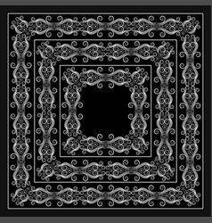 black bandana image vector image