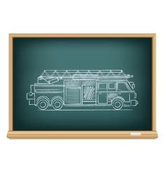 board fire truck vector image