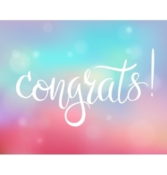 Bright congratulations card vector