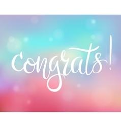 Bright congratulations card vector image
