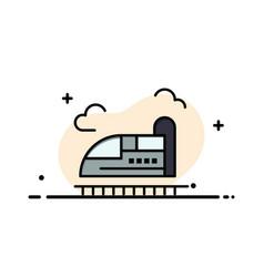 Bullet train high speed business logo template vector