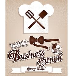 Business lunchMenu vector