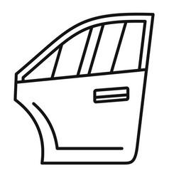 car door icon outline style vector image