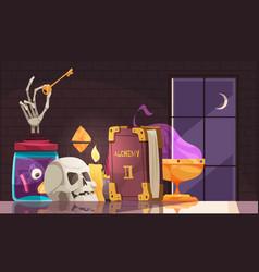 Cartoon alchemy vector