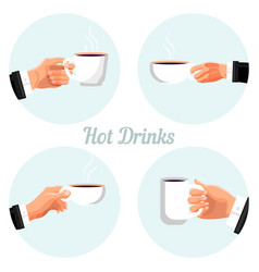 Coffee break time labels set vector