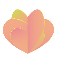 Composite pink heart isolated on white background vector