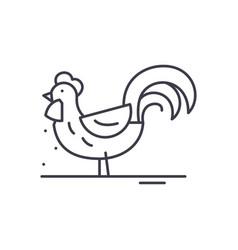 cute cock line icon concept cute cock vector image