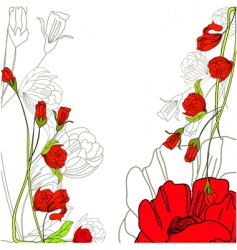decorative background with rose flowers vector image