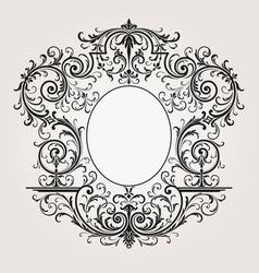Decorative vintage frame border background vector