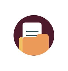 Digital marketing folder file document archive vector