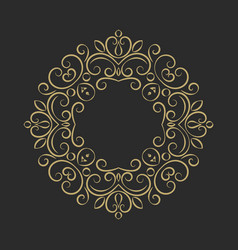 Elegant hand drawn retro floral frame vector