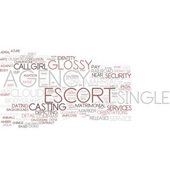 Escort agency word cloud concept vector