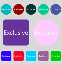 Exclusive sign icon Special offer symbol 12 vector