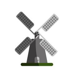 Farmhouse windmill icon image vector