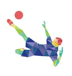 Football kicking vector