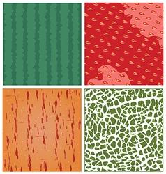 Fruit texture set vector