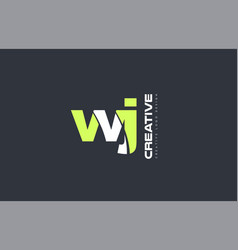 Green letter wj w j combination logo icon company vector
