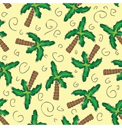 green palm trees seamless pattern vector image