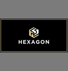 Gs hexagon logo design inspiration vector