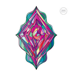 hand drawn abstract rhombus vector image