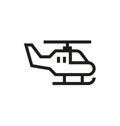 Helicopter icon on white background vector