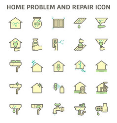 Home problem and repair service icon set design vector
