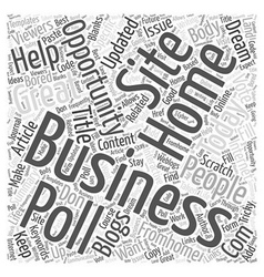 Internet home business opportunity Word Cloud vector