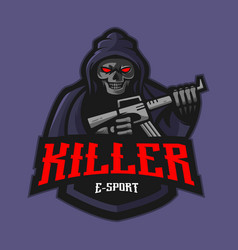 killer mascot vector image
