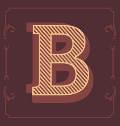 letters attractive vintage design alphabet vector image