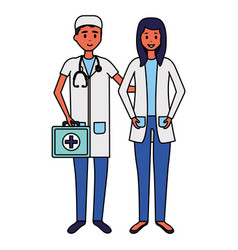 medical people characters vector image