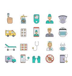 medicine equipment doctors medicines help simple vector image