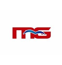 MG letter logo vector image