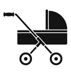 Modern baby carriage icon simple style vector