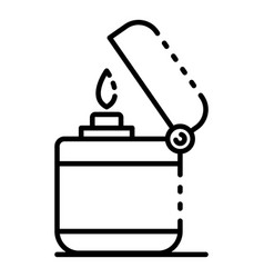 modern cigarette lighter icon outline style vector image