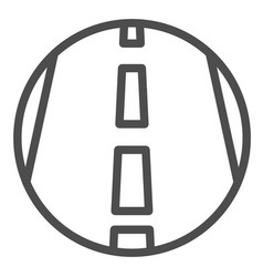 Motorway line icon transportation symbol highway vector