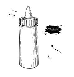 Mustard ketchup or mayonnaise sauce bottle vector