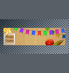 New years cover for web on a wooden background vector
