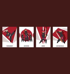 ninja characters ninja vector image