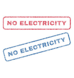 No electricity textile stamps vector