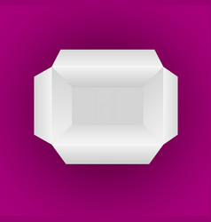 open empty white box isolated on magenta vector image